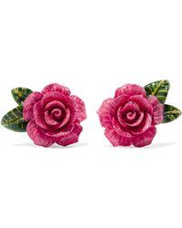 Dolce & Gabbana - Enamel Clip Earrings - Lyst