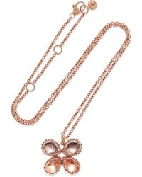 Larkspur & Hawk - Sadie Butterfly Rose Gold-dipped Quartz Necklace - Lyst