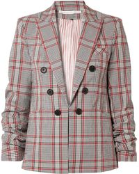 Veronica Beard - Caldwell Dickey Checked Cotton-blend Blazer - Lyst