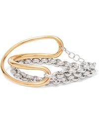 Charlotte Chesnais - Initial Armband Aus Gold-vermeil Und Silber - Lyst