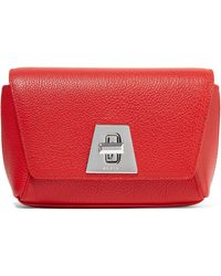 Akris - Anouk Little Day Textured-leather Clutch - Lyst