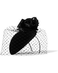 Philip Treacy - Crystal-embellished Veiled Velvet Headpiece - Lyst