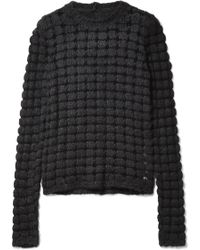 Rick Owens - Open-knit Silk And Cotton-blend Sweater - Lyst