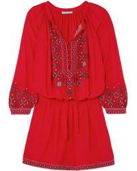 Melissa Odabash - Nadja Embroidered Voile Mini Dress - Lyst