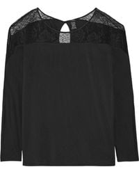 CALVIN KLEIN 205W39NYC - Decadence Lace-paneled Modal-blend Pajama Top - Lyst