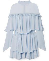Caroline Constas - Tessa Tiered Ruffled Silk-chiffon Mini Dress - Lyst