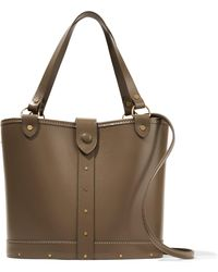 The Row - Leather And Wood Shoulder Bag - Lyst