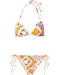 Emilio Pucci - Printed Triangle Bikini - Lyst