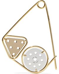 Loewe - Gold And Silver-plated Brooch - Lyst
