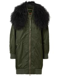 Mr & Mrs Italy - Hooded Shearling-trimmed Shell Bomber Jacket - Lyst