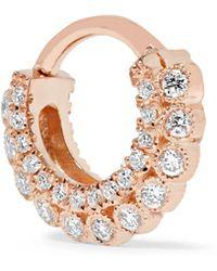 Maria Tash - 14-karat Rose Gold Diamond Earring - Lyst