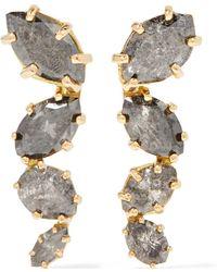 Melissa Joy Manning - 18-karat Gold Diamond Earrings - Lyst