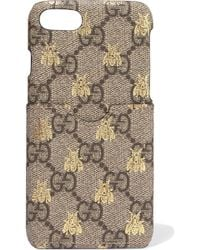 Gucci - Printed Coated-canvas Iphone 7 Case - Lyst
