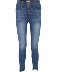 Madewell - Distressed High-rise Skinny Jeans - Lyst