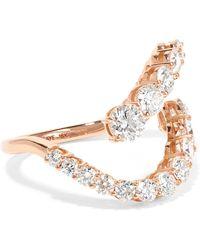 Melissa Kaye - Aria Skye 18-karat Rose Gold Diamond Ring - Lyst