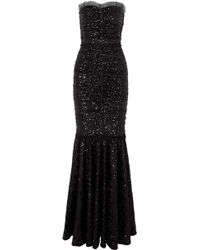 Dolce & Gabbana - Sequined Stretch-tulle Gown - Lyst