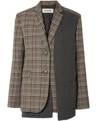 Monse - Panelled Checked Woven Blazer - Lyst