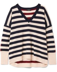 J.Crew | Rosalyn Striped Cashmere Jumper | Lyst