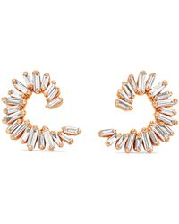 Suzanne Kalan - 18-karat Rose Gold Diamond Earring - Lyst