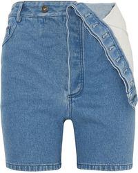 Y. Project - Asymmetric Denim Shorts - Lyst