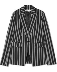 Veronica Beard - Petra Striped Twill Blazer - Lyst