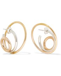 Charlotte Chesnais - Richoche 18-karat Gold, Silver And Rose Gold Earrings - Lyst