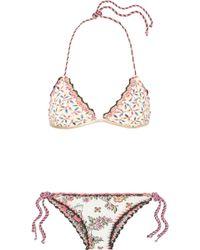 Anjuna - Olivia Reversible Crochet-trimmed Printed Triangle Bikini - Lyst