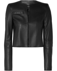 Akris - Hasso Cropped Leather Jacket - Lyst