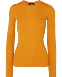 Theory - Miriz Ribbed Merino Wool Jumper - Lyst