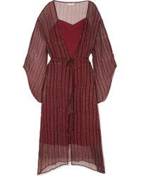 Cloe Cassandro - Fifi Belted Silk-crepon Dress - Lyst