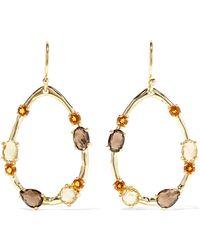 Ippolita - Rock Candy 18-karat Gold, Citrine And Quartz Earrings - Lyst