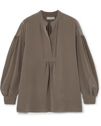 Vince - Washed-silk Blouse - Lyst