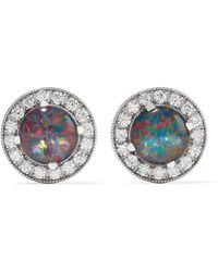 Andrea Fohrman - 18-karat White Gold, Opal And Diamond Earrings - Lyst