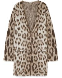 Loewe - Oversized Mohair-blend Jacquard Cardigan - Lyst
