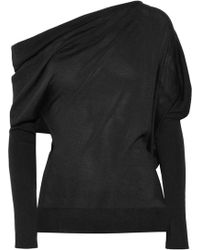 Tom Ford - One-shoulder Cashmere And Silk-blend Jumper - Lyst