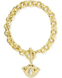 Amrapali - Thamarai Lotus 18-karat Gold, Topaz And Diamond Bracelet - Lyst
