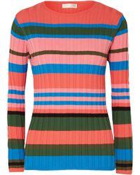 Stine Goya - Leonor Striped Ribbed-knit Sweater - Lyst