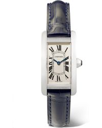 Cartier - Tank Américaine 19mm Small Stainless Steel And Alligator Watch - Lyst