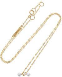 Delfina Delettrez - 18-karat Yellow And White Gold Diamond Necklace - Lyst
