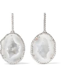 Kimberly Mcdonald - 18-karat White Gold, Geode And Diamond Earrings - Lyst