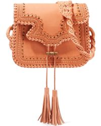 Ulla Johnson - Esti Macramé-trimmed Studded Leather Shoulder Bag - Lyst