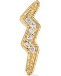 Andrea Fohrman - Mini Lightning Bolt 14-karat Gold Diamond Earring - Lyst