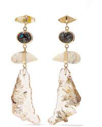 Melissa Joy Manning - 14-karat Gold Multi-stone Earrings - Lyst