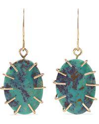 Melissa Joy Manning - 14-karat Gold Turquoise Earrings Gold One Size - Lyst