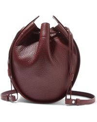 The Row - Textured-leather Bucket Bag - Lyst