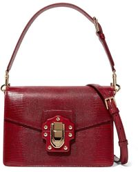 954c1d48d993 Dolce   Gabbana - Lucia Lizard-effect Leather Shoulder Bag - Lyst