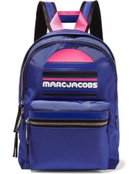 Marc Jacobs - Rubber-appliquéd Leather-trimmed Shell Backpack - Lyst
