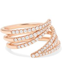Melissa Kaye - Cristina 18-karat Rose Gold Diamond Ring - Lyst