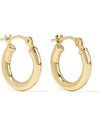 Loren Stewart - Baby Chubbie Huggies Gold-tone Hoop Earrings - Lyst
