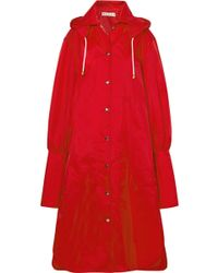Marni - Oversized Hooded Shell Raincoat - Lyst